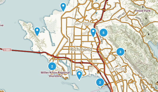 Richmond, California Walking Map