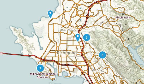 Richmond, California Wild Flowers Map