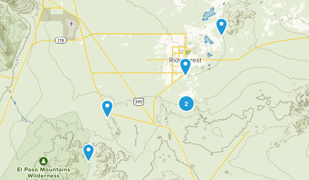 Ridgecrest, California Views Map