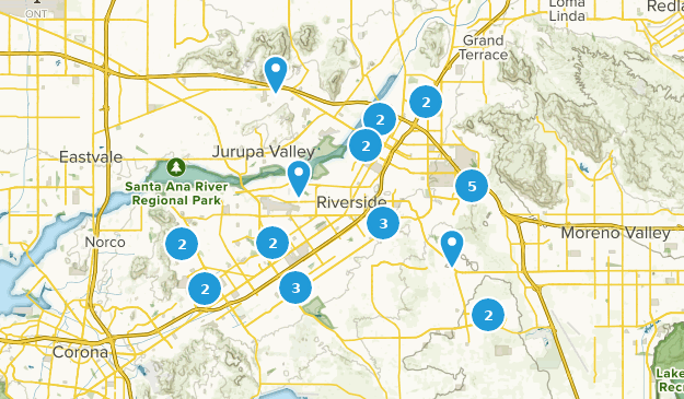 Map of Trails near Riverside, California | AllTrails
