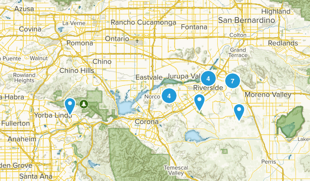 Riverside, California Nature Trips Map