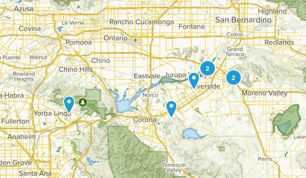 Riverside, California River Map