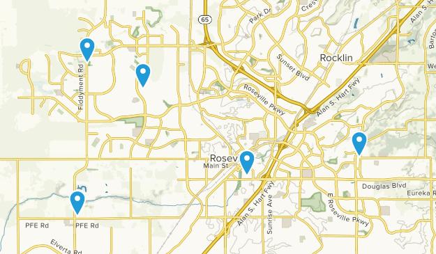 Roseville, California Walking Map