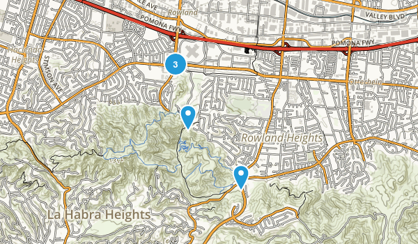 Rowland Heights, California Hiking Map