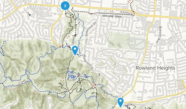 Rowland Heights, California Trail Running Map