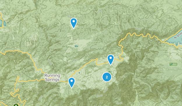 Running Springs, California Walking Map
