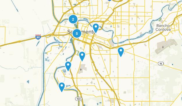 Sacramento, California Dogs On Leash Map