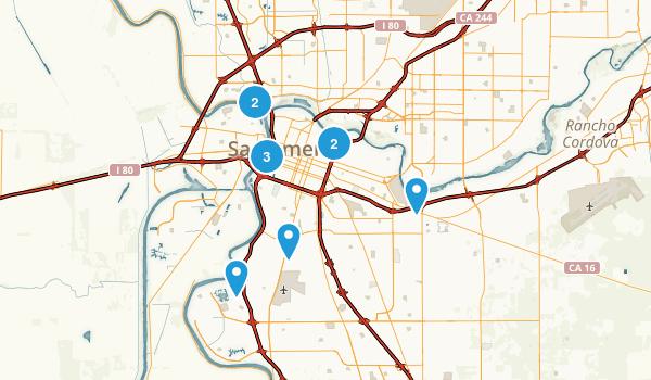 Sacramento, California Trail Running Map