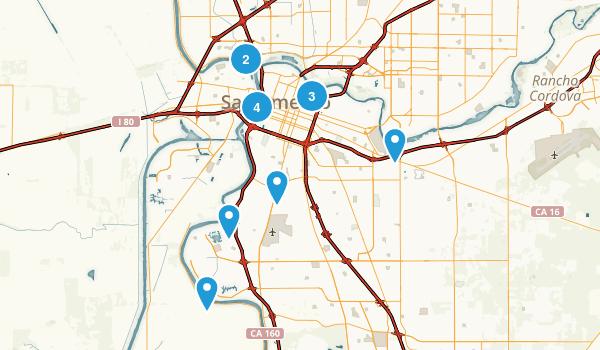 Sacramento, California Walking Map