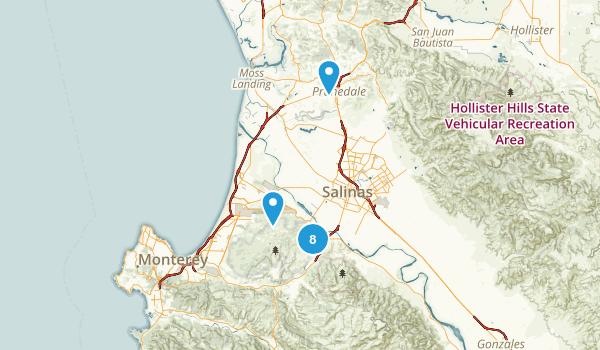 Salinas, California Birding Map
