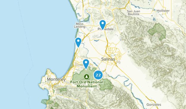 Salinas, Kalifornien Hiking Map