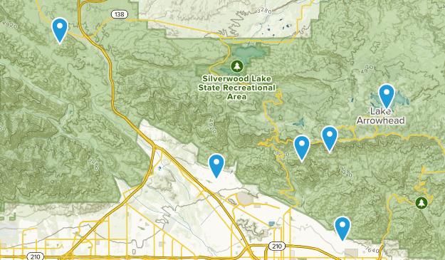 San Bernardino, California Dogs On Leash Map