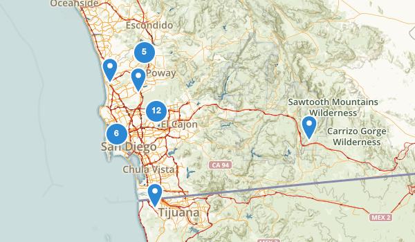 San Diego, California Birding Map