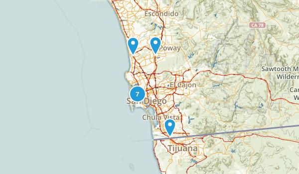 San Diego, California Dog Friendly Map