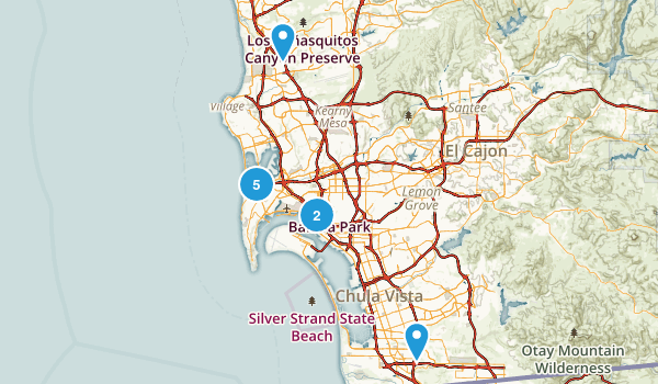 San Diego, California Dog Friendly Map
