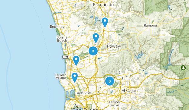 San Diego, California Forest Map