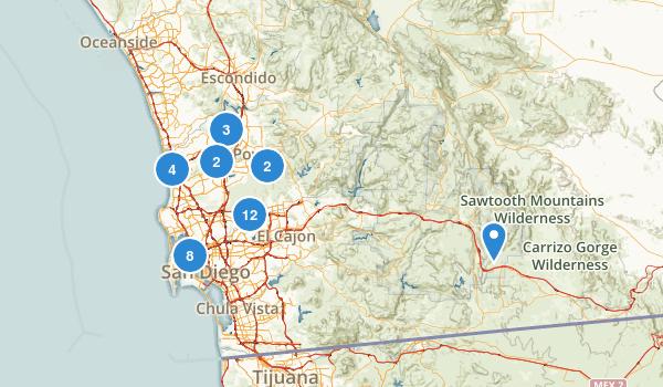 San Diego, California Nature Trips Map