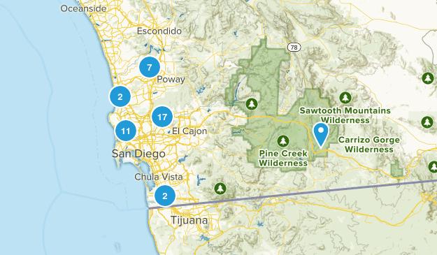 San Diego, California Wild Flowers Map