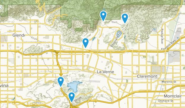 San Dimas, California Walking Map