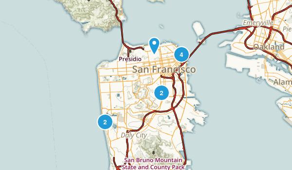 San Francisco, California Wheelchair Friendly Map