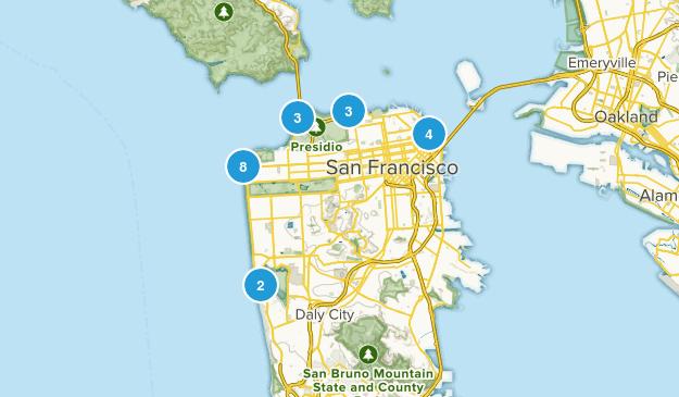 San Francisco, California Beach Map