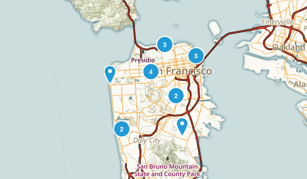 San Francisco, California Dog Friendly Map