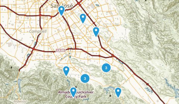 San Jose, California Dogs On Leash Map