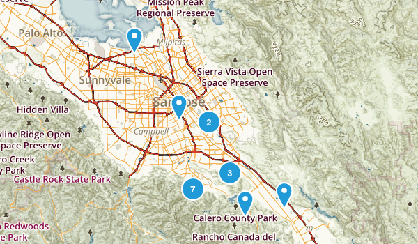 Best Dogs On Leash Trails Near San Jose California Photos - San jose bike trails map