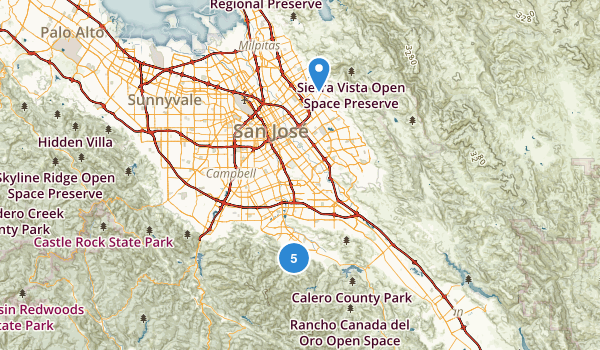 San Jose, California Forest Map