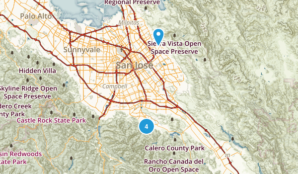 San Jose, California Forest Map