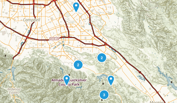 San Jose, California Horseback Riding Map