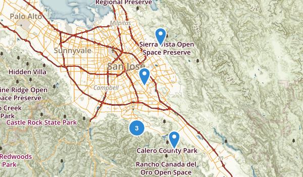 San Jose, California Lake Map