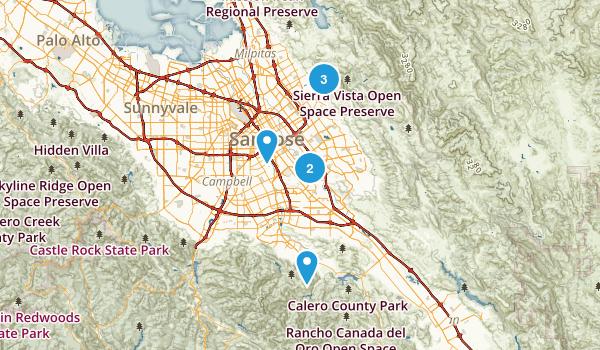 San Jose, California River Map