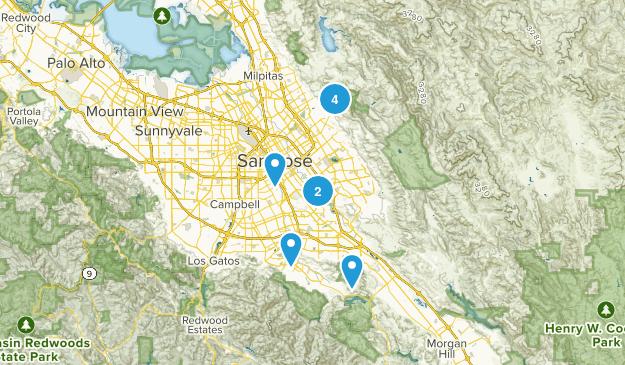 San Jose, California Road Biking Map
