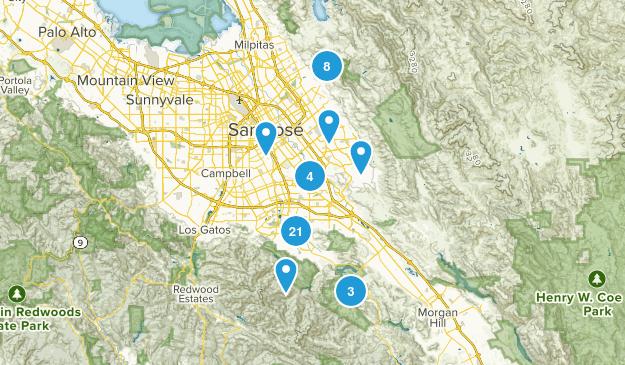 San Jose, California Trail Running Map