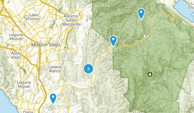 San Juan Capistrano, California Forest Map