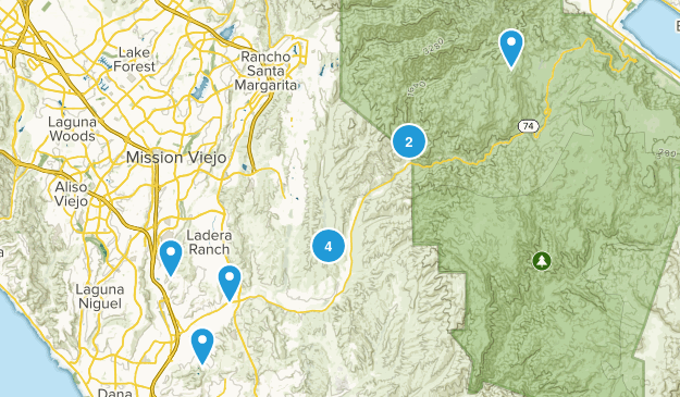 San Juan Capistrano, California Nature Trips Map