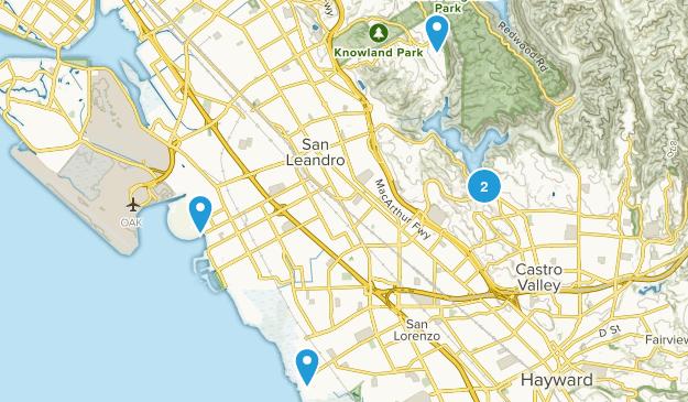 San Leandro, California Hiking Map