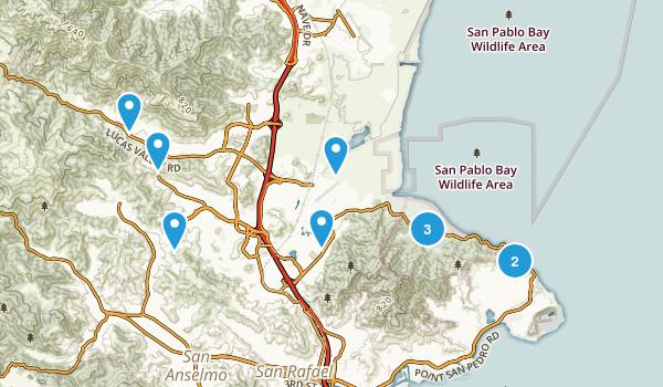 San Rafael, California Birding Map