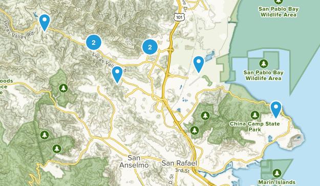 San Rafael, California Dogs On Leash Map