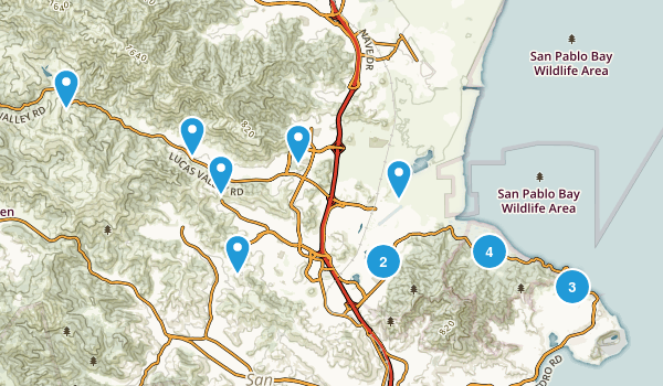 San Rafael, California Hiking Map