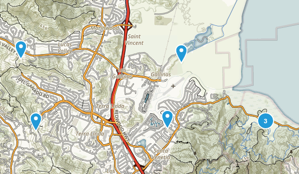 San Rafael, California Kid Friendly Map