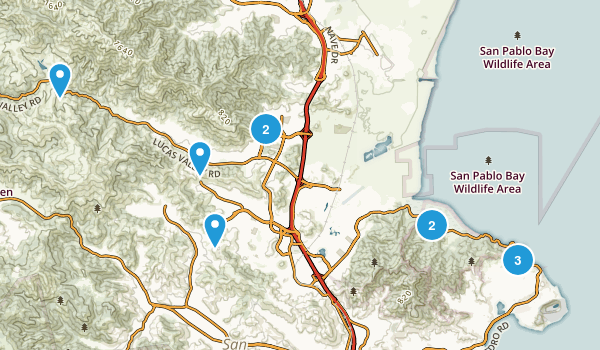 San Rafael, California Mountain Biking Map