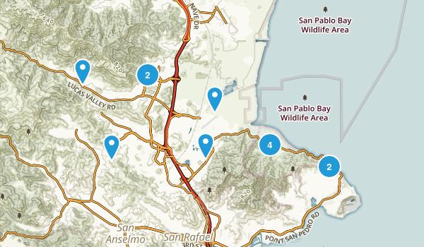 San Rafael, California Nature Trips Map