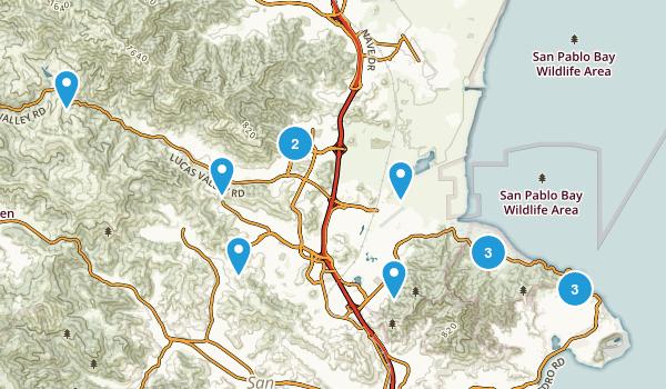 San Rafael, California Trail Running Map