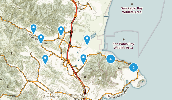 San Rafael, California Walking Map