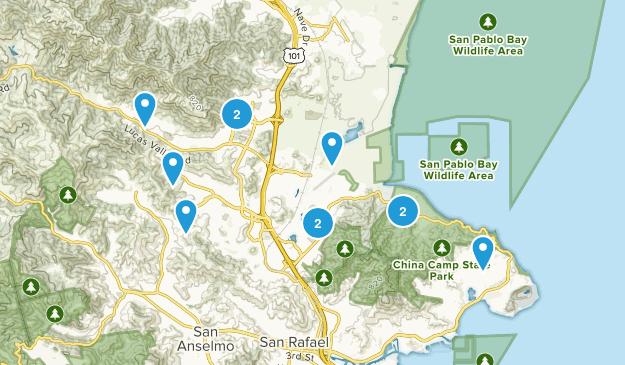 San Rafael, California Wildlife Map