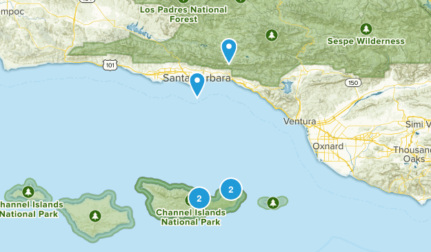 Santa Barbara, California No Dogs Map
