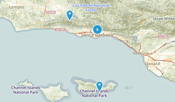 Santa Barbara, California Forest Map