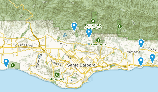 Santa Barbara, California Horseback Riding Map